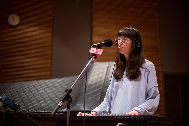 Alvvays keyboardist Kerri MacLellan in The Current studio