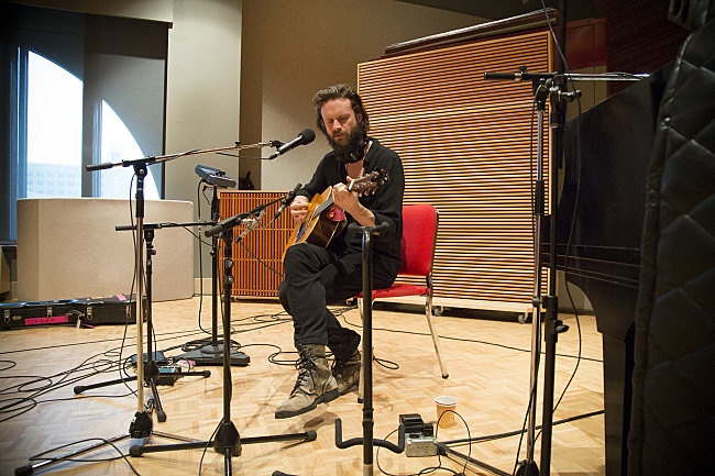 Father John Misty in The Current studio