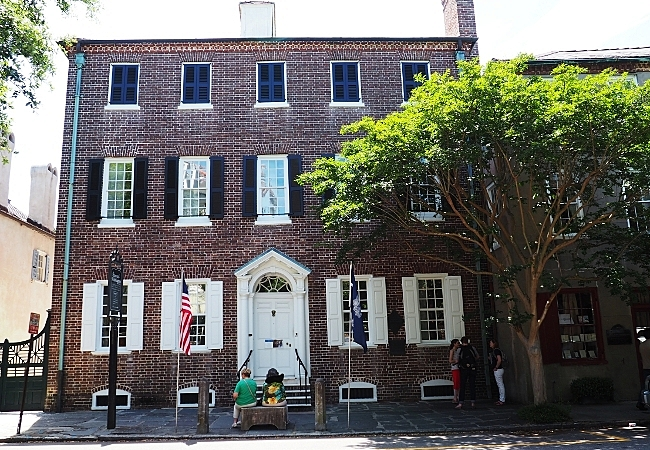The Heyward-Washington House, a registered national historic landmark located in Cabbage Row, Charleston, SC.