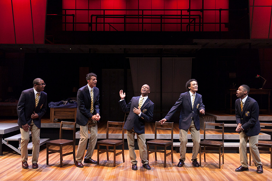 Photo of the Guthrie Theater's production of 'Choir Boy' by Tarrell Alvin McCraney, directed by Peter Rothstein.