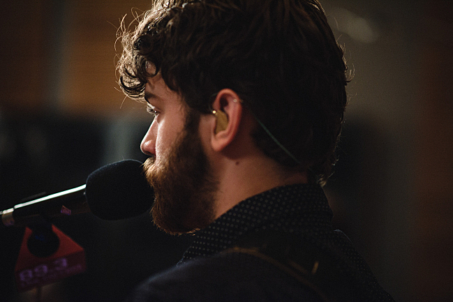 John Mark Nelson performing live in The Current studio