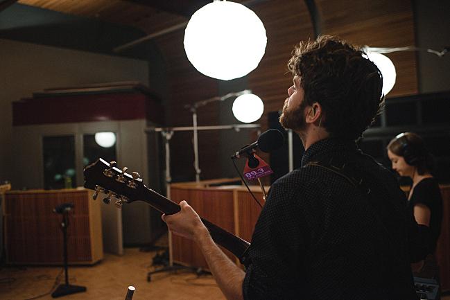 John Mark Nelson in The Current studio