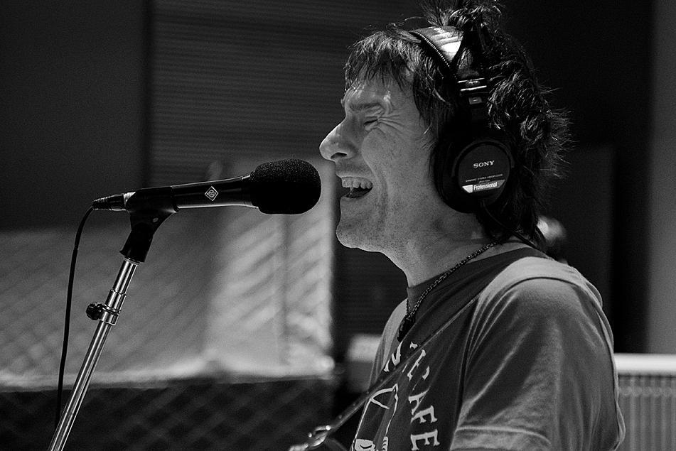 Tommy Stinson and his band in The Current's studios