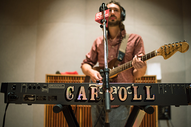 Carroll frontman Brian Hurlow performing live in The Current studio