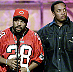 Ice Cube and Dr. Dre, two members of N.W.A, will be in the Rock and Roll Hall of Fame. Newer acts like The Smiths and Nine Inch Nails were overlooked. The prog rock band Yes got a no.