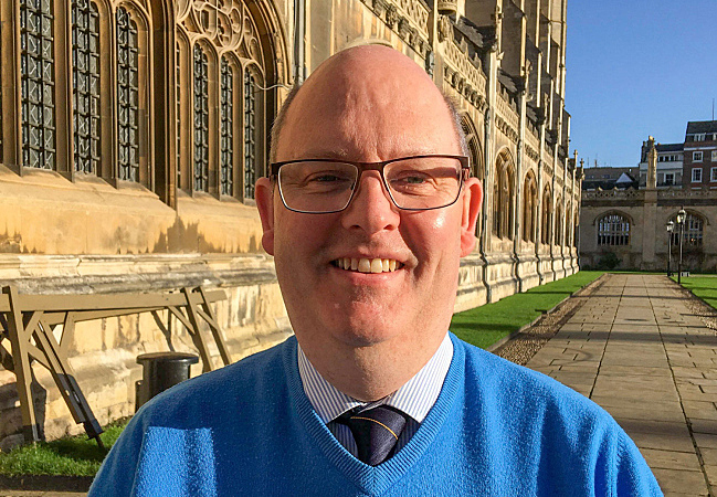 Ian Griffiths is Dean's Verger at King's College Chapel in Cambridge, England.
