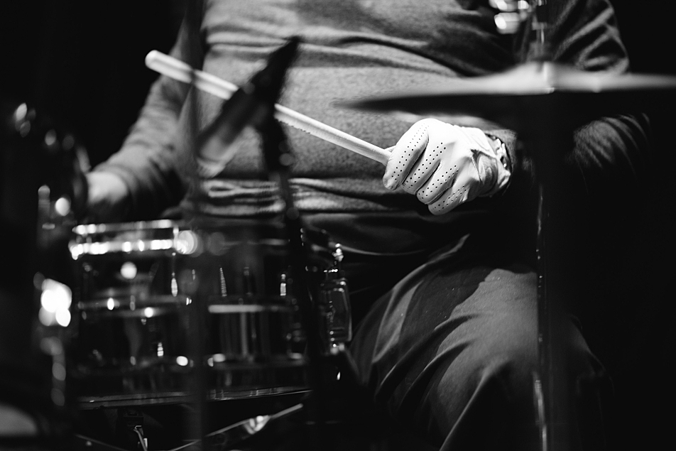 """John """"Jabo"""" Starks plays drums at The Current."""