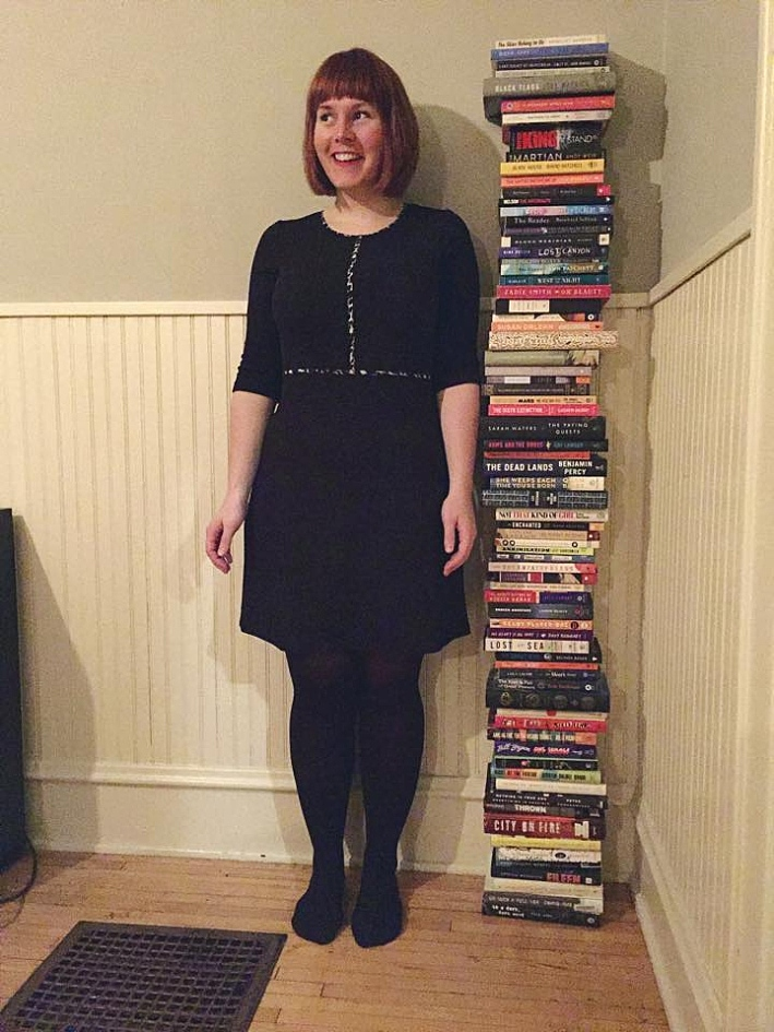 In 2015, MPR News's Digital Books Producer Tracy Mumford read her height in books.