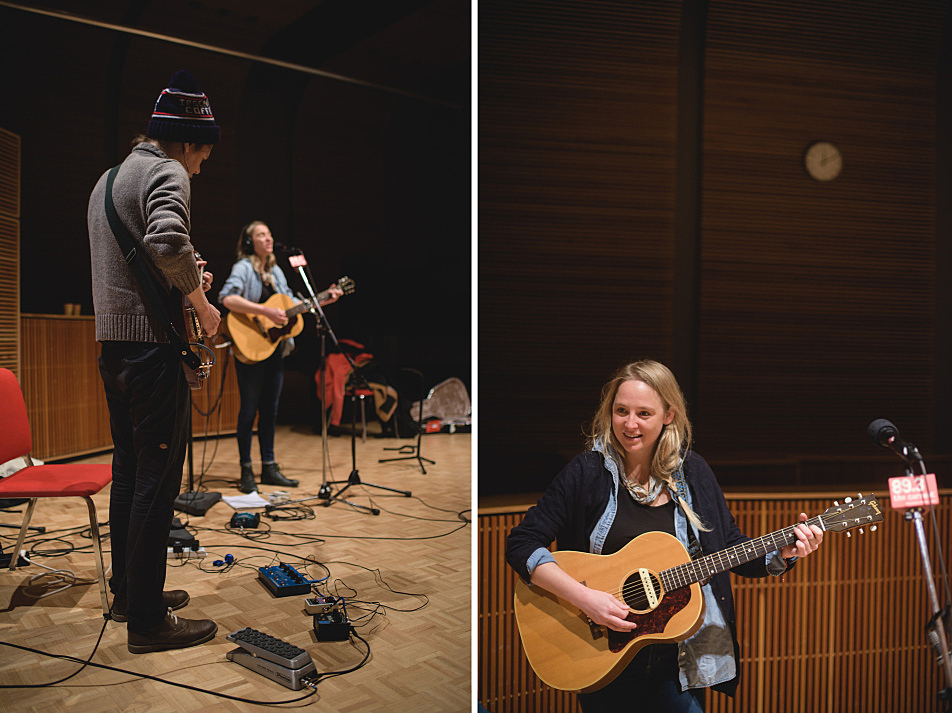 Lissie, accompanied by Stephen Howard on lead guitar, performs in The Current studio.