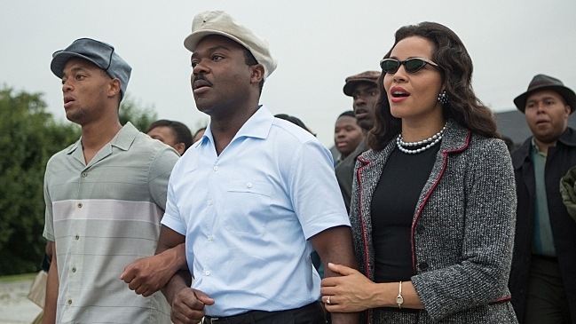 David Oyelowo, center, as Dr. Martin Luther King Jr. and Carmen Ejogo as Coretta Scott King in 'Selma.'