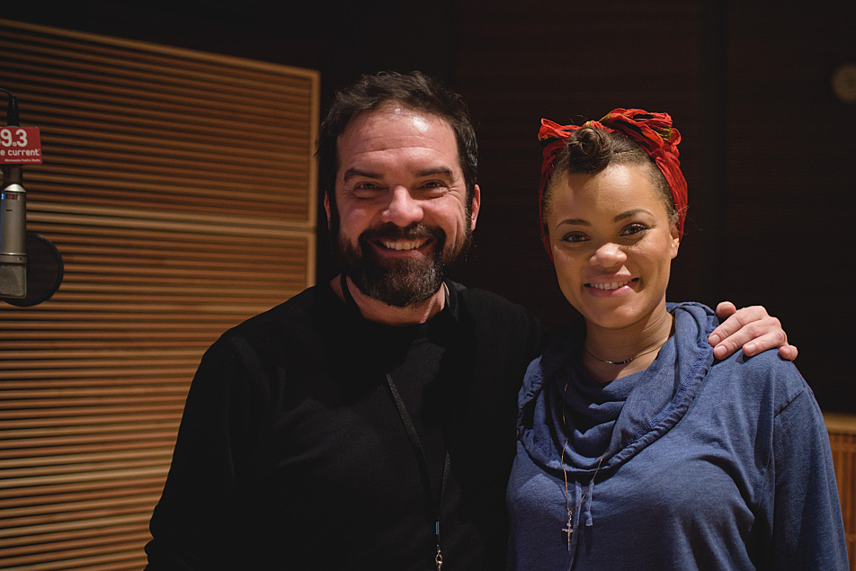 The Current's Brian Oake with Andra Day