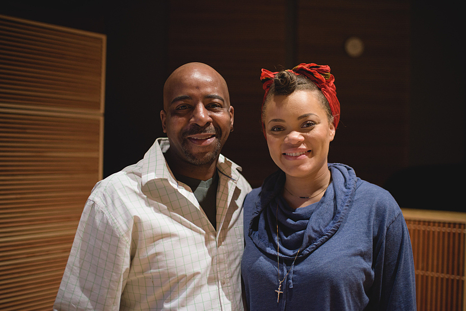 The Current's Derrick Stevens with Andra Day
