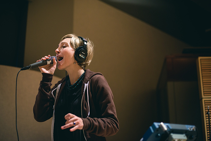 Channy Leaneagh of Polica performs in The Current studio.