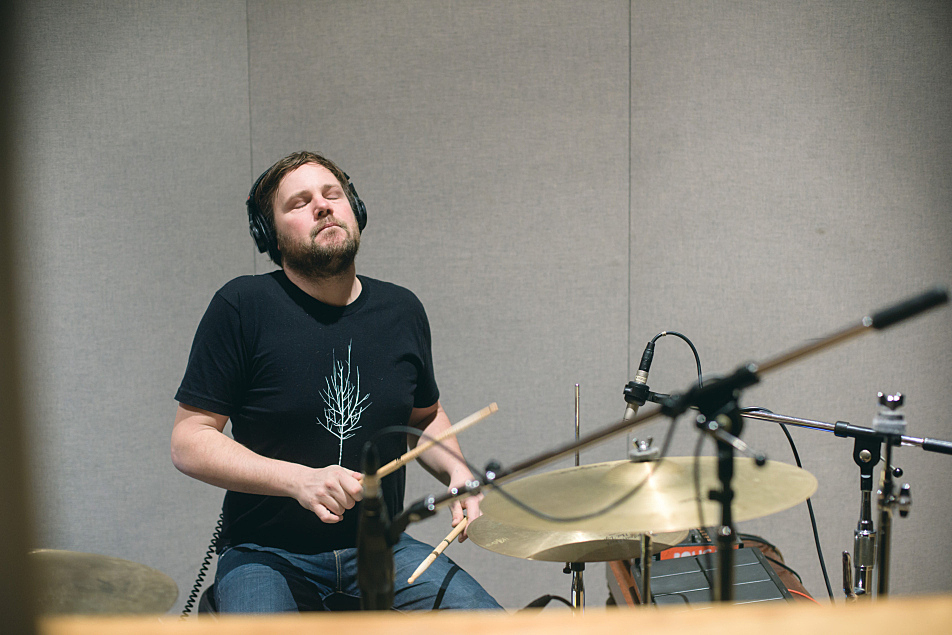 Drew Christopherson of Polica in The Current studio