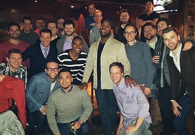 Men's vocal ensembles Cantus and Chanticleer meet at the Cove Tavern in Newport News, Va.