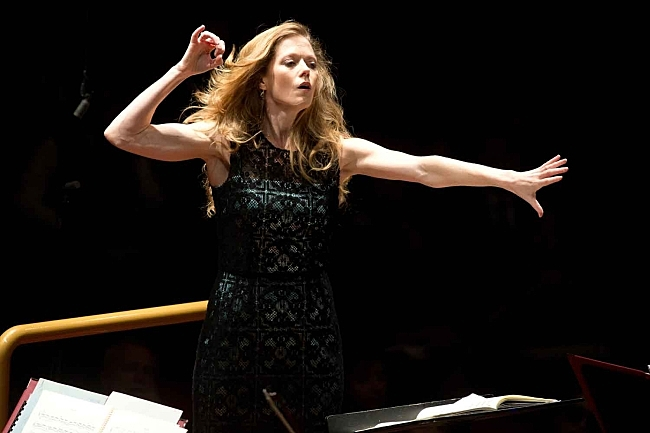 Soprano and conductor Barbara Hannigan has performed more than 80 world premieres.