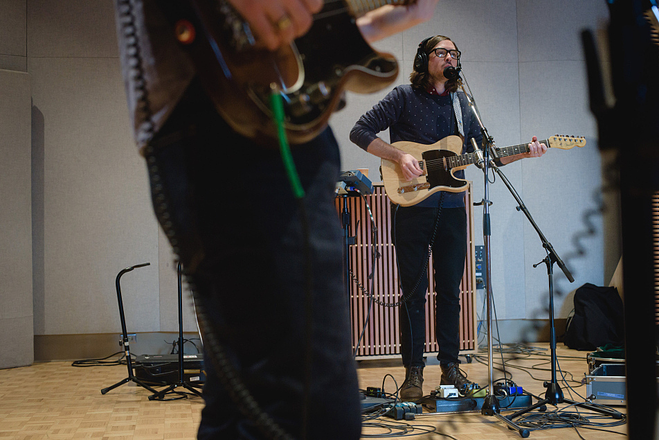 Martin Courtney performs in The Current studio.