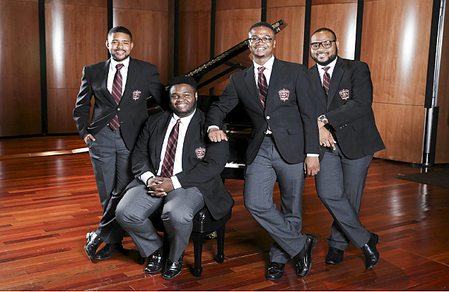 Photo of the 2015-16 Morehouse Glee Club Quartet