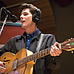 Jack Torrey of the Cactus Blossoms plays his Silvertone guitar in The Current's studio.