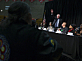 Bernie Sanders attends forum at north Minneapolis high school