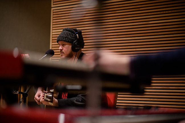 David Huckfelt of the Pines performing live in The Current studio