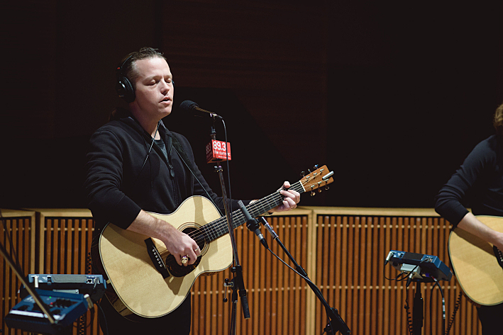 Jason Isbell performs in The Current studio.