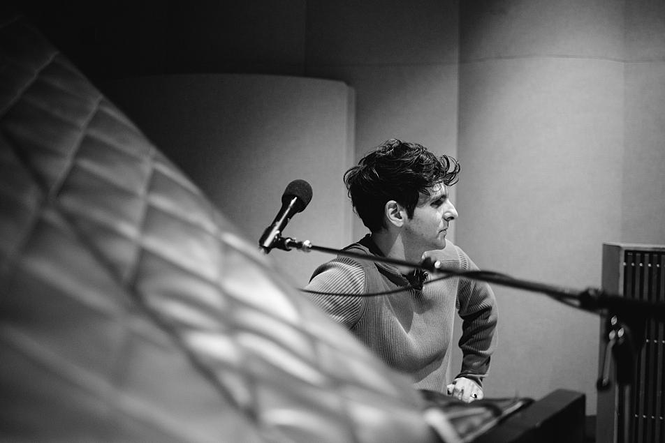 Adam Weiner of Low Cut Connie in The Current studio.