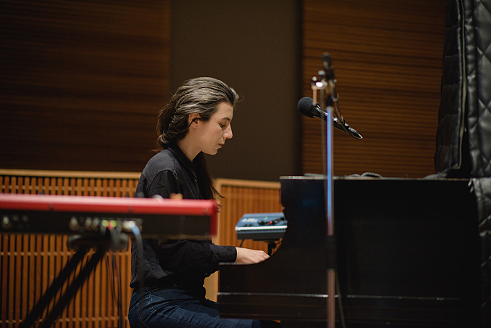 Julia Holter performs in The Current studio.