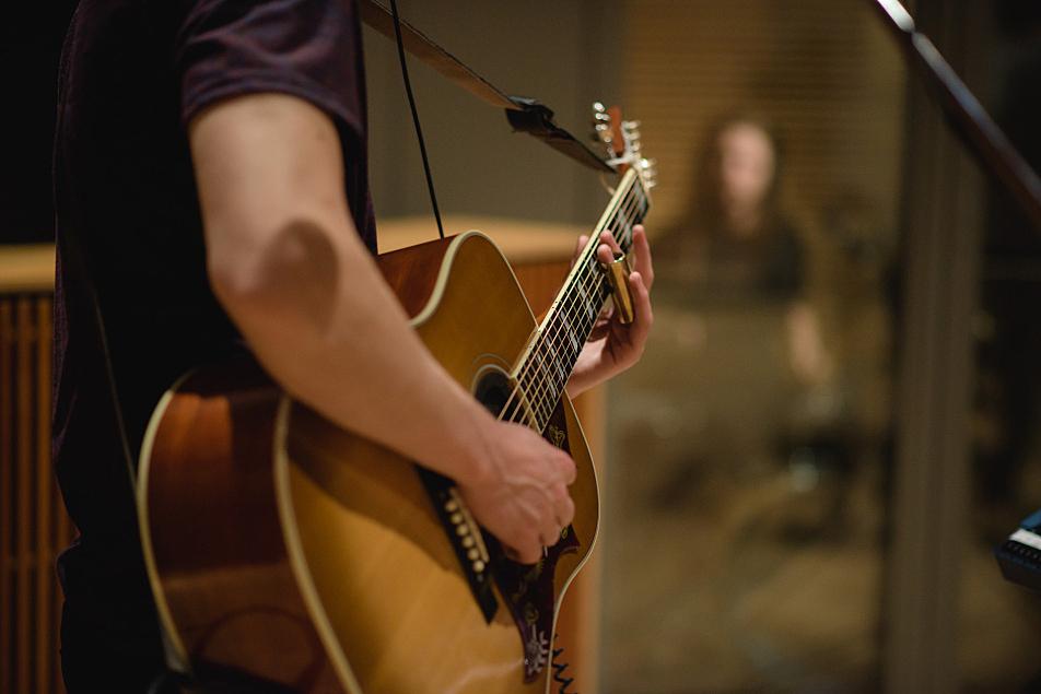 Kaleo lead guitarist Rubin Pollock performs in The Current studio.