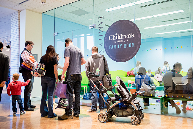 Children's Hospitals and Clinics of Minnesota family room at Rock the Cradle 2016