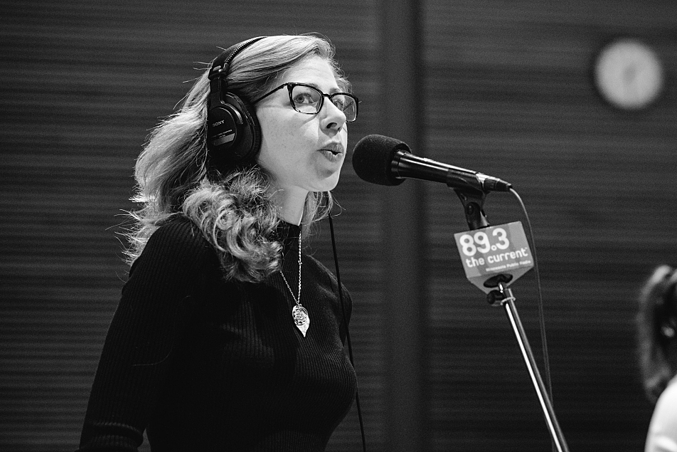Rachael Price of Lake Street Dive in The Current studio.
