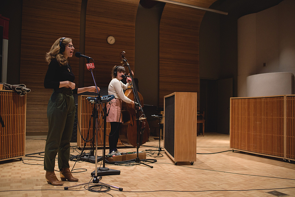 Rachael Price and Bridget Kearney of Lake Street Dive in The Current studio.