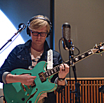 Mike McDuck Olson of Lake Street Dive plays his D'Angelico EX-DC guitar in The Current's studio.