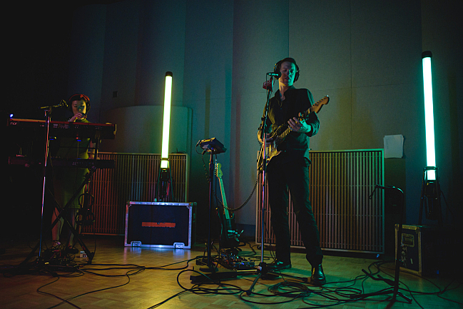 Shearwater performing live in The Current studio