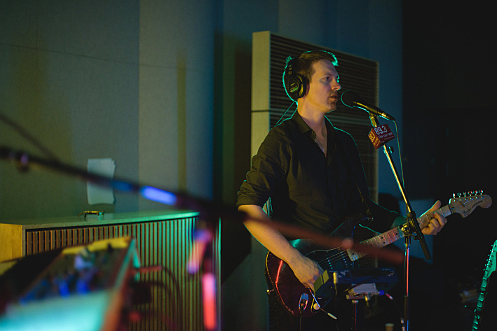 Shearwater frontman Jonathan Meiburg performing live in The Current studio