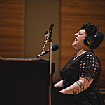 Davina Sowers of Davina and the Vagabonds performing live in The Current studio