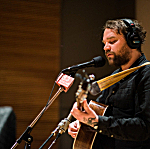 Scott Hutchinson of Frightened Rabbit performing live in The Current studio