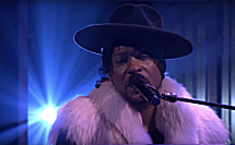 D'Angelo performs on The Tonight Show