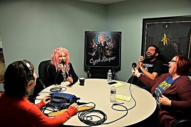 Oake & Riley with Cyndi Lauper