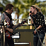 Jamie Hince (L) and Alison Mosshart of The Kills perform onstage during day one of the 2016 Coachella Valley Music & Arts Festival, weekend two at the Empire Polo Club on April 22, 2016, in Indio, Calif.
