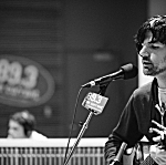 Seth Avett of the Avett Brothers performs in The Current studio.