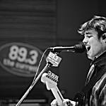 Jake Luppen of Hippo Campus performing live in The Current studio