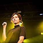 Channy Leaneagh of Polica performing live at Rock the Garden 2016