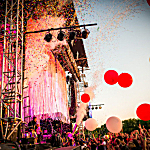 The Flaming Lips performing live at Rock the Garden 2016