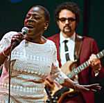 Sharon Jones performing at World Cafe Live in Philadelphia.