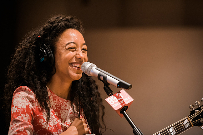 Corinne Bailey Rae in The Current studio